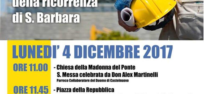 Anmil e il  Comune di Castelnuovo G. saranno come ogni anno a fianco per celebrare la Santa Barbara.