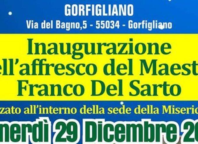 GORFIGLIANO – SI INAUGURA L'AFFRESCO  DI FRANCO DEL SANTO