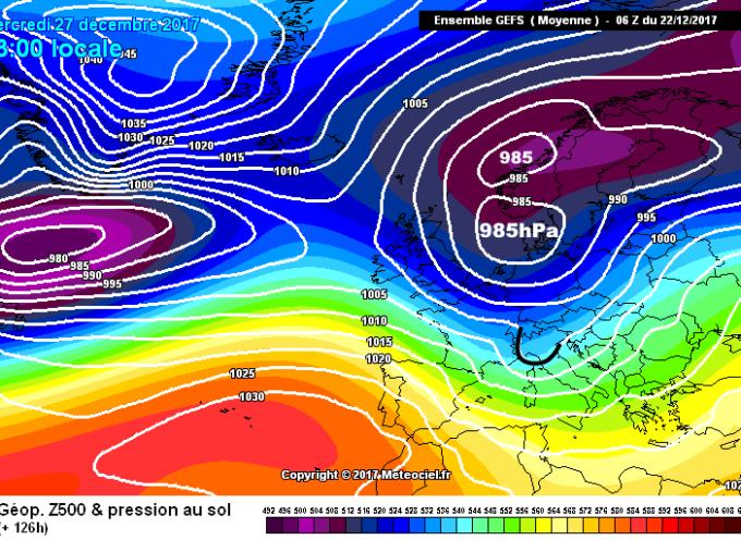 le previsioni del tempo dal 24  al 27 dicembre