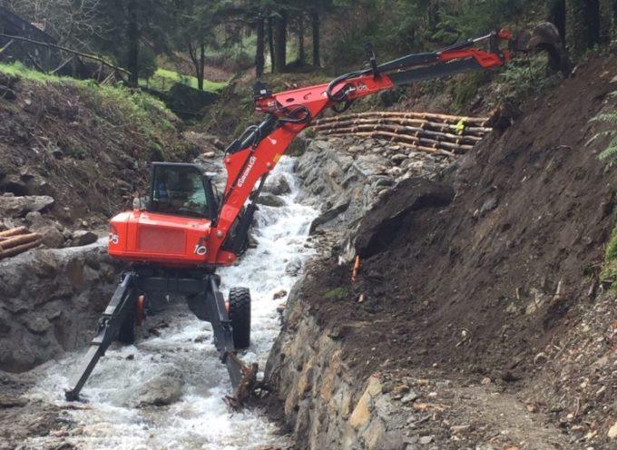 Rischio idrogeologico: lavori sui canali di montagna