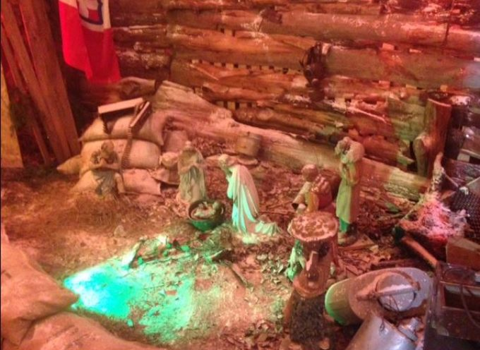 Il 'presepio nella trincea'  a  Borgo a Mozzano