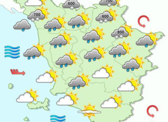 le previsioni meteo per oggi sabato 16 dicembre