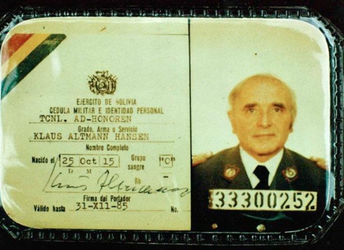 """Il 19 gennaio del 1982 Nikolaus Barbie detto """"il macellaio"""", comandante della Gestapo a Lione, viene arrestato in Bolivia."""
