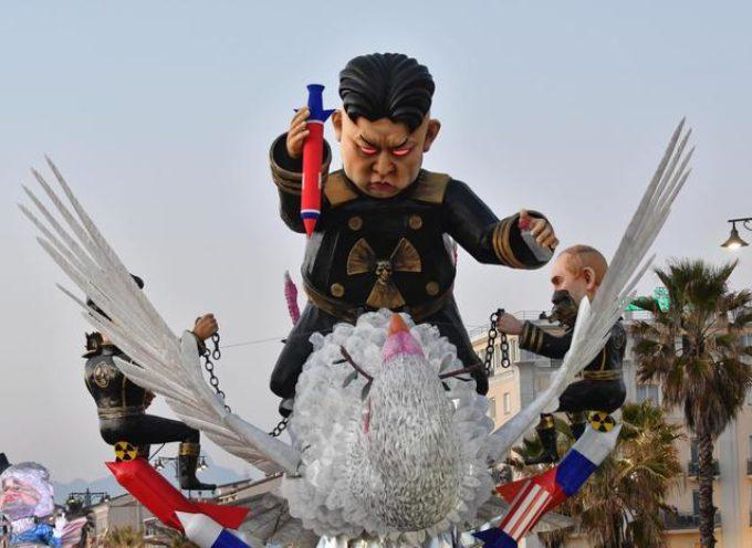 Prima sfilata del Carnevale di Viareggio 2018
