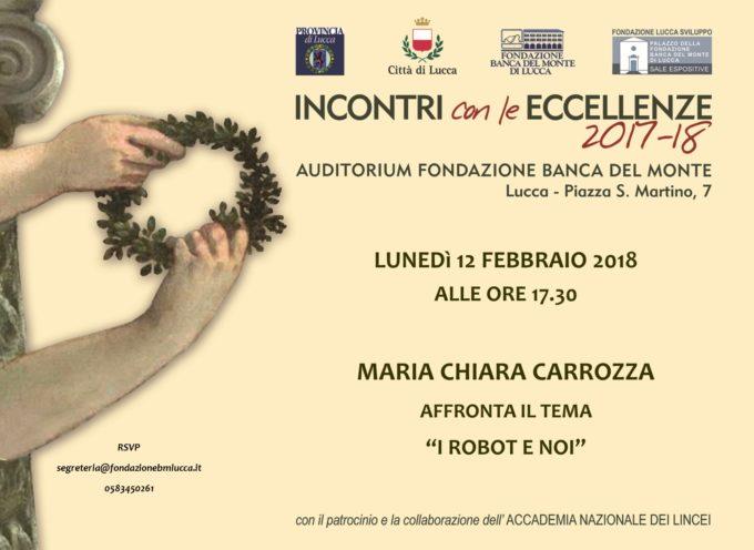 Nuova data per l'incontro con le Eccellenze dedicato a Maria Chiara Carrozza  Lunedì 12 febbraio alle 17,30 a Lucca – auditorium FBML