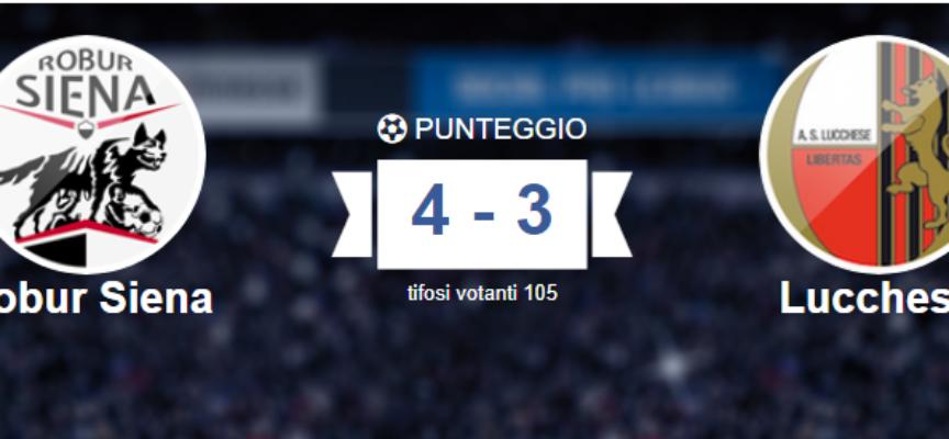 Social Pro League, Lucchese serve l'impresa per ribaltare il risultato contro la Robur Siena