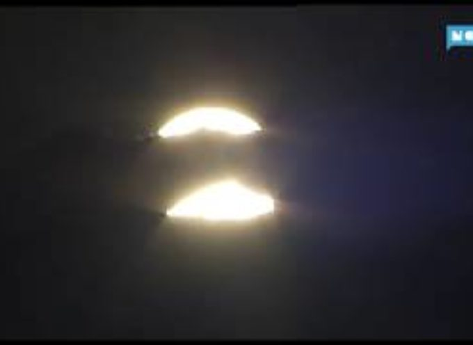 Riecco il suggestivo doppio tramonto del sole del Monte Forato[VIDEO]