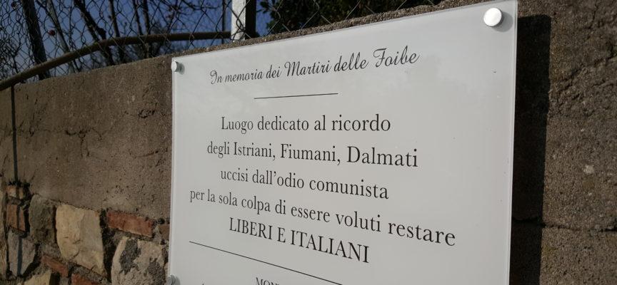 Montecarlo, giorno del ricordo: CasaPound dona una targa commemorativa alla città.