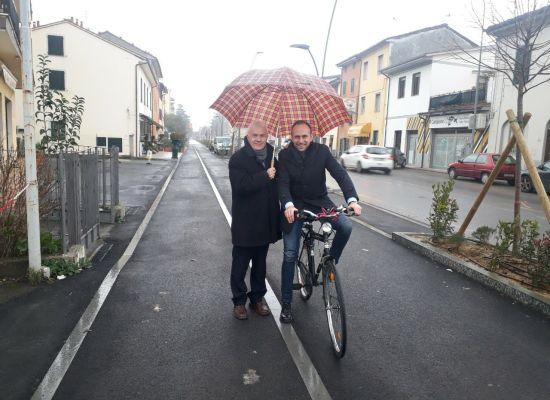 Piste ciclo-pedonali: pronto il nuovo tratto tra via Nieri e via Vecchi Pardini a Sant'Anna