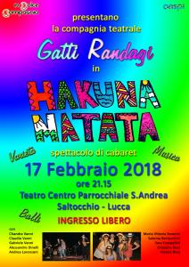 Locandina Gatti Randagi spettacolo 17-02-18