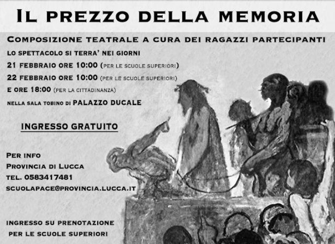 GIORNO DELLA MEMORIA 2018: IN SCENA A PALAZZO DUCALE