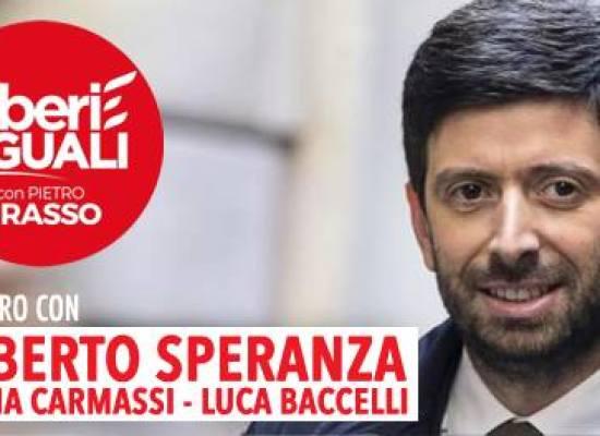 Roberto Speranza a Lucca per Liberi e Uguali