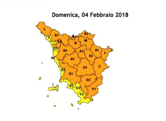 ALLERTA METEO PER RISCHIO GHIACCIO dalle 00.00 alle 10.00 di domenica 4 febbraio