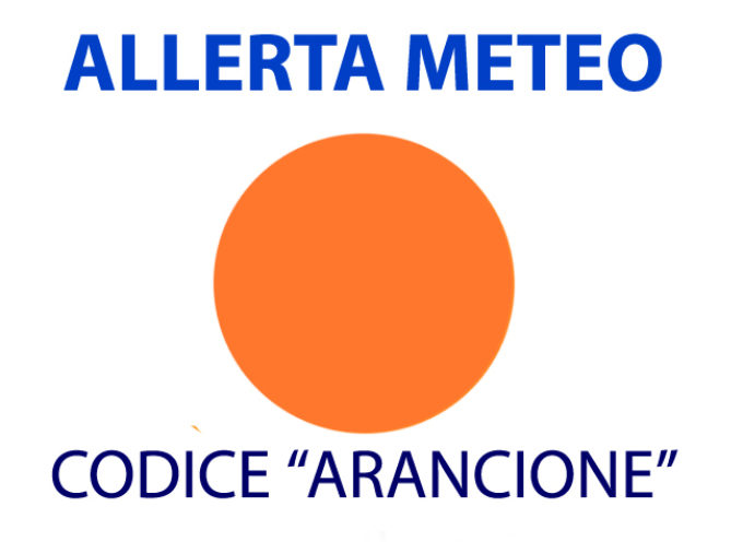 Allerta meteo arancione dalle 7.00 alle 23,59 di lunedì 29 ottobre