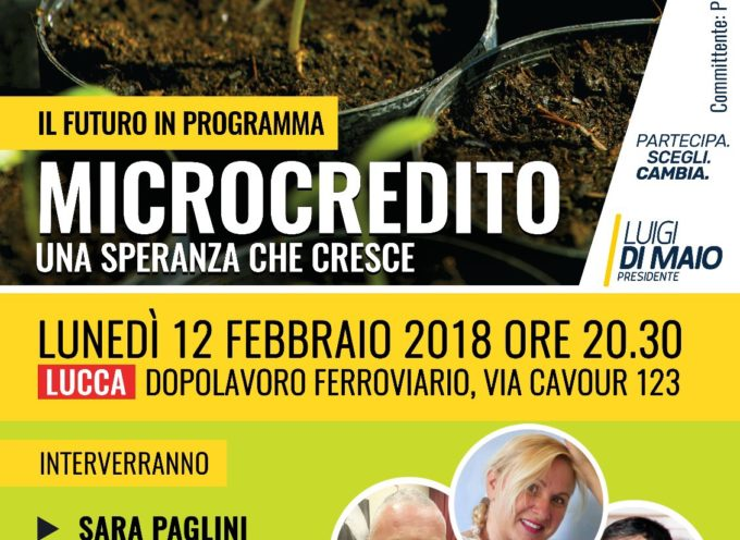 Microcredito M5S LUCCA –  LUNEDI SERA  RIUNIONE SUL TEMA REDDITO DI CITTADINANZA