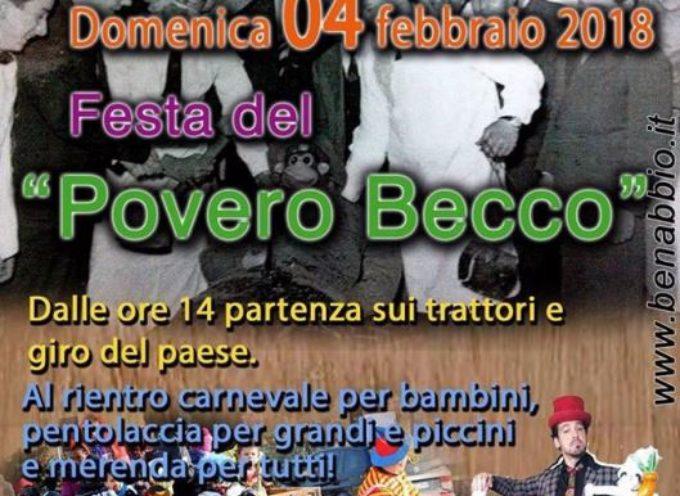 """Festa del """"Povero Becco"""" A  Benabbio,"""