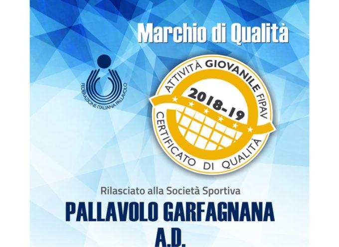 Pallavolo Garfagnana premiata con la Certificazione di Qualità federale