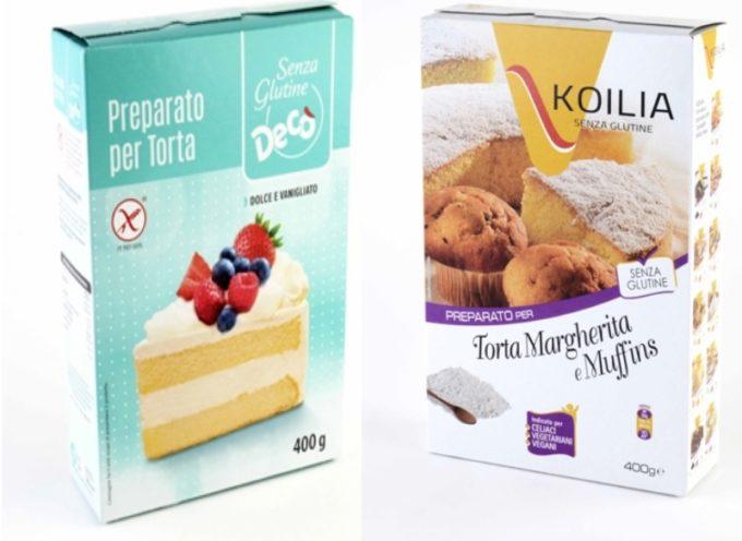 Ministero della salute: richiamati due lotti di preparato per torta margherita e muffins Decò e KOILIA,
