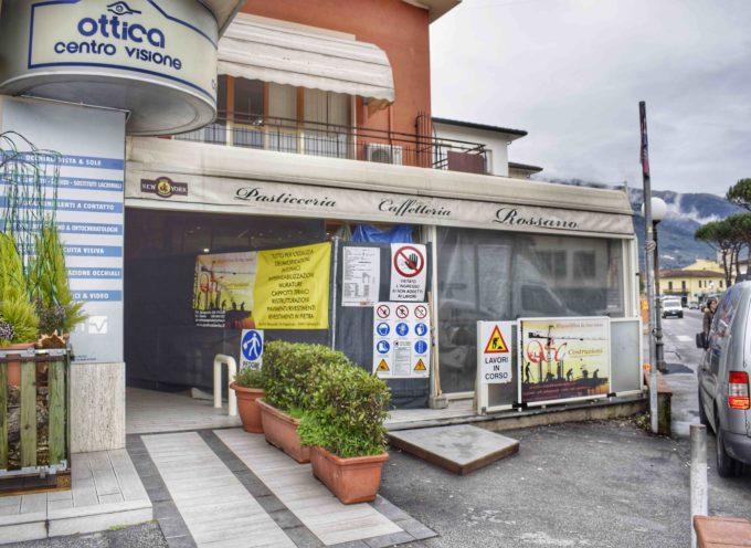 Lavori in corso per la storica pasticceria Rossano a Camaiore  Taglio del nastro giovedì 8 febbraio alle ore 19
