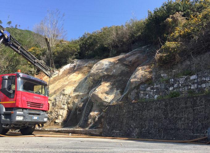Protezione e sicurezza del territorio: in dirittura d'arrivo i lavori di consolidamento di un versante a rischio frana sul Monte di Ripa
