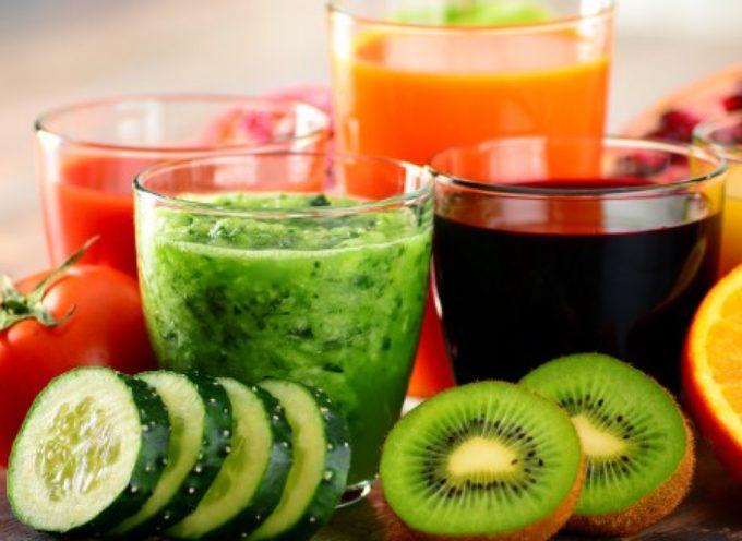 6 Centrifugati drenanti e detossificanti alla frutta e verdura