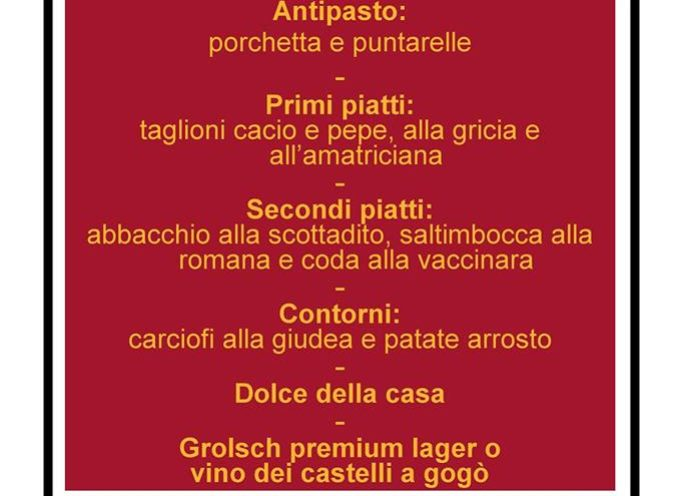 ristorante il granaio sabato cena tipica romana