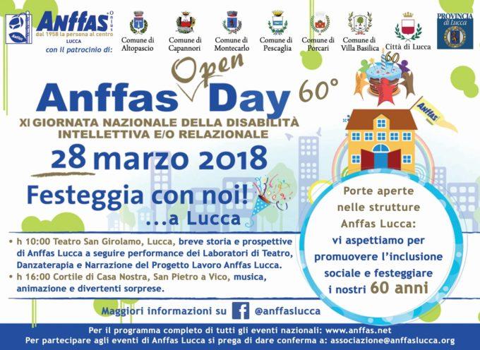 Anffas Open Day 60°, IL 28 MARZO