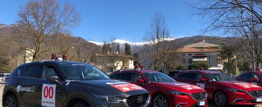 Quest'anno, per la prima volta, anche con  MAZDA,  in prima fila per aprire il 41° Rally de Il Ciocco e Valle del Serchio.