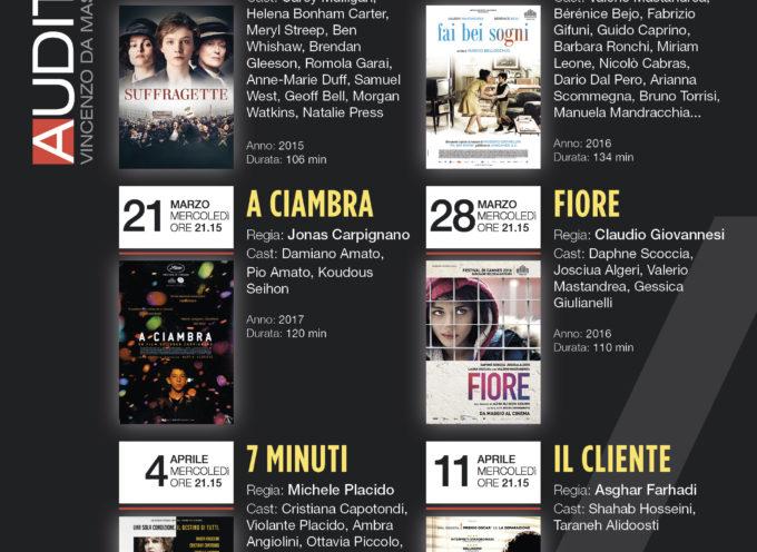 Dal 7 marzo all'11 aprile la rassegna di cinema  all'auditorium Da Massa Carrara di Porcari