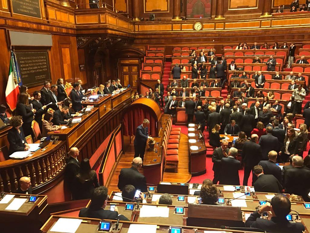 Senato primo giorno per mallegni fi a palazzo madama for Lavori senato oggi