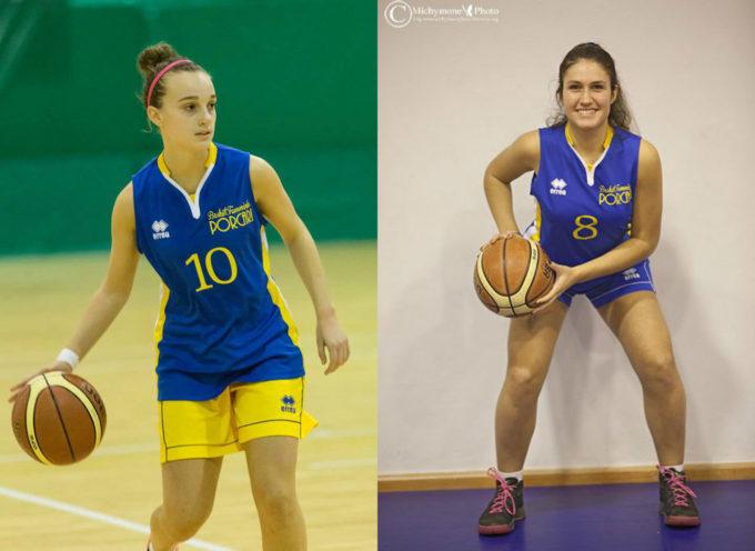 Due ragazze del Basket Femminile Porcari, saranno protagoniste alla fase interzona del campionato Under 20,