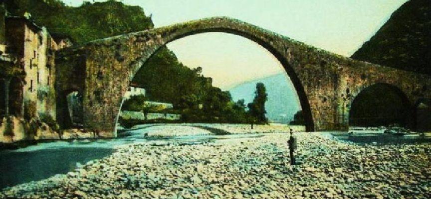Il ponte del diavolo, prima del passaggio della ferrovia Lucca Aulla