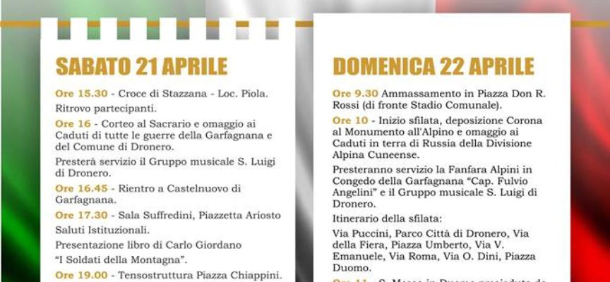 CASTELNUOVO FESTEGGIA 40 ANNI DI GEMELLAGGIO CON LA CITTA' DI DRONERO