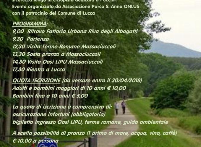 Alla scoperta del Serchio in bici con l'associazione parco S. Anna