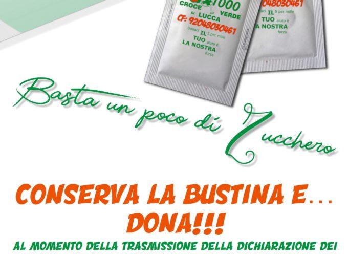 """""""Basta un poco di zucchero"""": la Croce Verde P.A. di Lucca lancia una innovativa campagna promozionale per il 5*1000"""