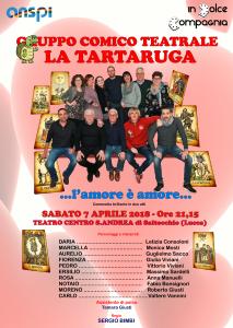 Locandina La Tartaruga spettacolo 07-04-18
