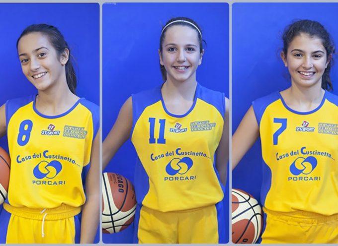 Tre ragazze del Basket Femminile Porcari prenderanno parte al Trofeo Fosco Carloni