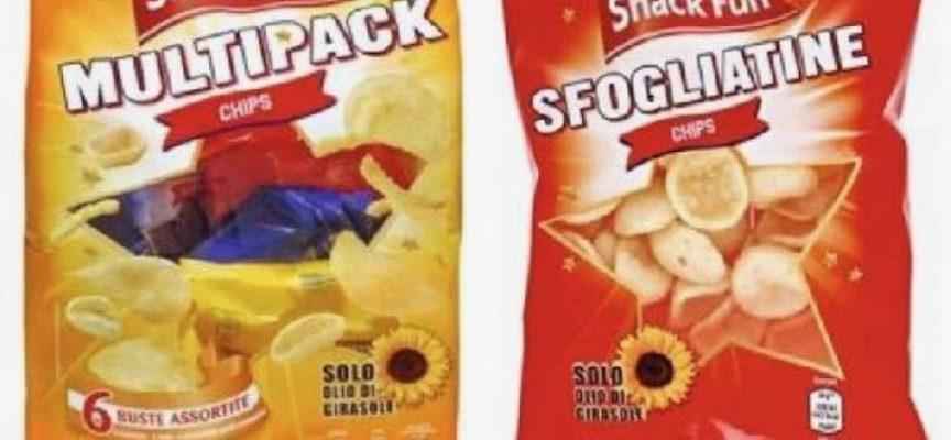 Sfogliatine chips e patatine Multipack Chips richiamate dal mercato