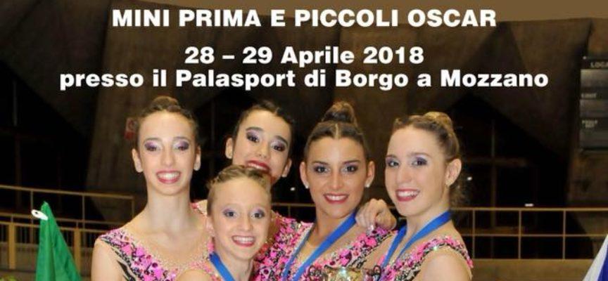 Finale del campionato regionale di Ginnastica Ritmica, a  Borgo a Mozzano