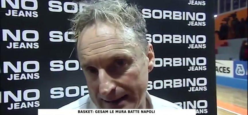 Intervista a coach Serventi, dopo la vittoria del Basket Le Mura Lucca a Napoli, in gara 1 dei quarti di finale scudetto.