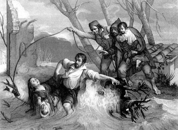 L'Auser, l'Auserculus, il Serchio e le sue piene