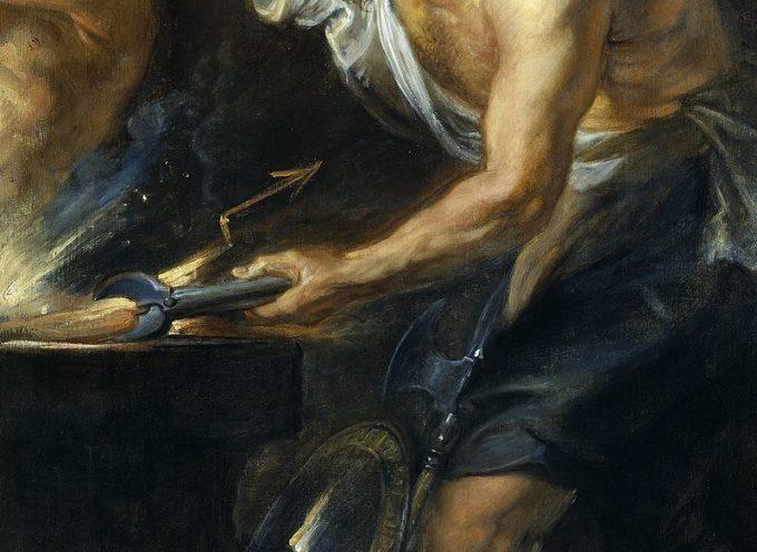 Nell'Antica Roma, 23 Maggio: Festa del Tubilustrium, il lavaggio sacro delle trombe da guerra, in onore di Vulcano
