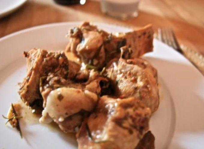 il CONIGLIO CON LE CIPOLLE, antica ricetta lucchese