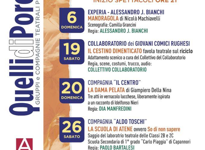 Prosegue la rassegna delle compagnie amatoriali porcaresi all'auditorium Da Massa Carrara