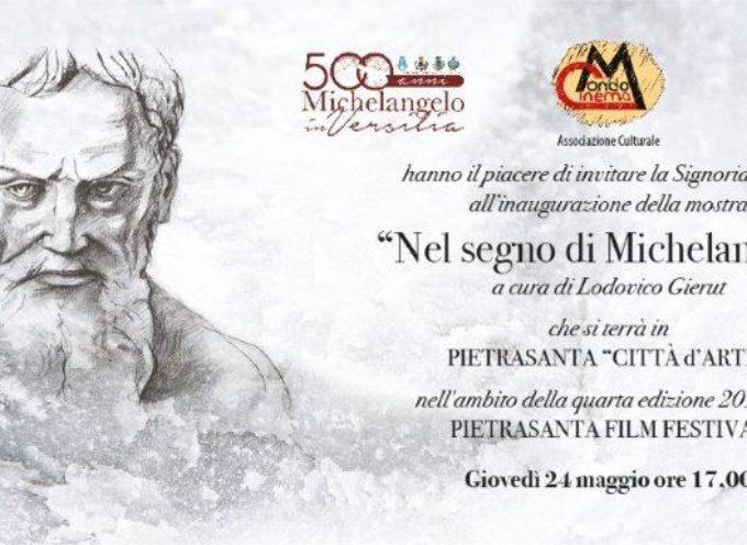 """""""Nel segno di Michelangelo"""" che si terrà a Pietrasanta (Lucca) giovedì 24 maggio 2018 ad ore 17,00 presso il Chiostro di Sant'Agostino,"""