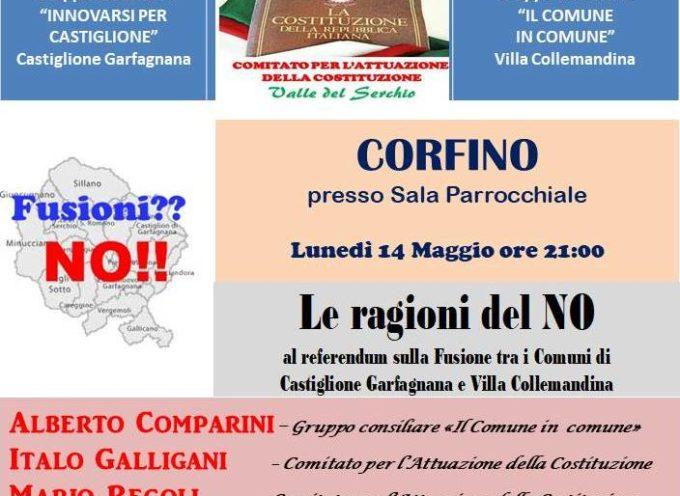 REFERENDUM FUSIONE VILLA DI CASTIGLIONE. ULTIMA SETTIMANA DI CAMPAGNA ELETTORALE.