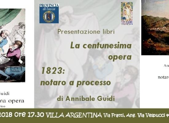 A Villa Argentina si presentano i romanzi di Annibale Guidi
