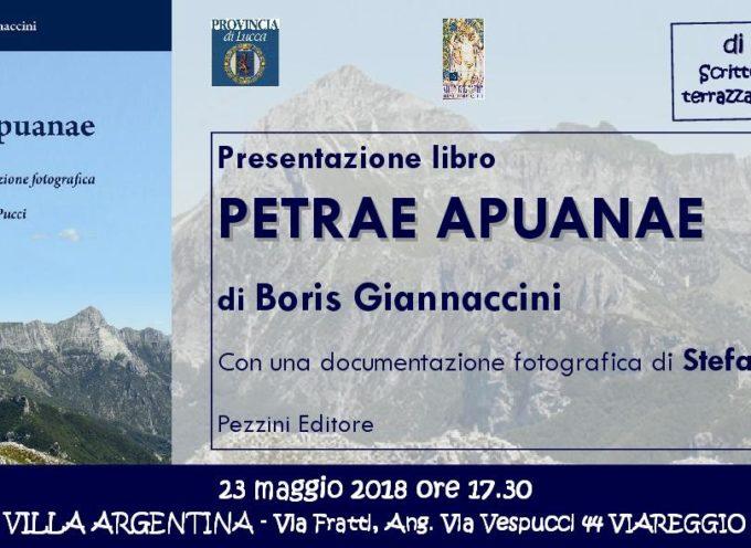 "A Villa Argentina si presenta ""Petrae Apuanae"" di Boris Giannaccini"