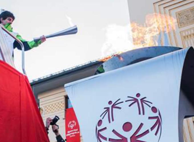 """Il """"Torch Run"""" ovvero la fiaccola che preannuncia i Giochi Nazionali Estivi Special Olympics,"""