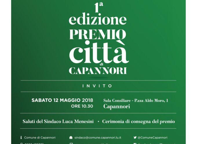 """DOMANI (SABATO) LA CERIMONIA DI CONSEGNA DEL PREMIO """"CITTA' DI CAPANNORI"""""""